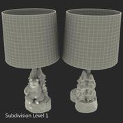곰과 나무 악센트 램프 3d model