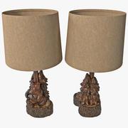 Lámpara de acento de oso y árbol modelo 3d