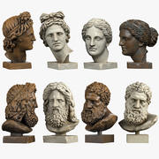 Classical Head Sculptures 3d model