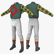Jockey Kläder 2 3d model