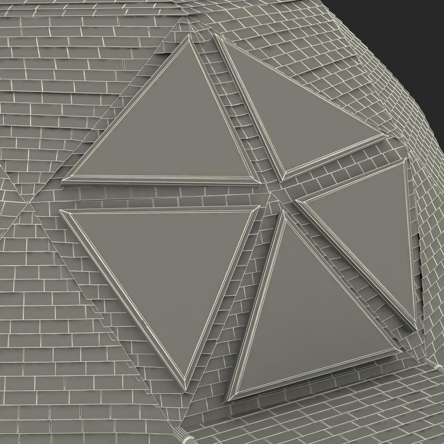 Geodesic Dome House royalty-free 3d model - Preview no. 21