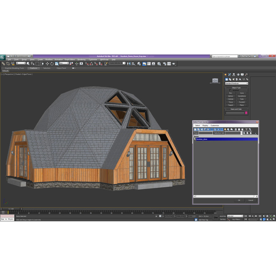 Geodesic Dome House royalty-free 3d model - Preview no. 25