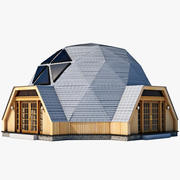 Geodesic Dome House 3d model