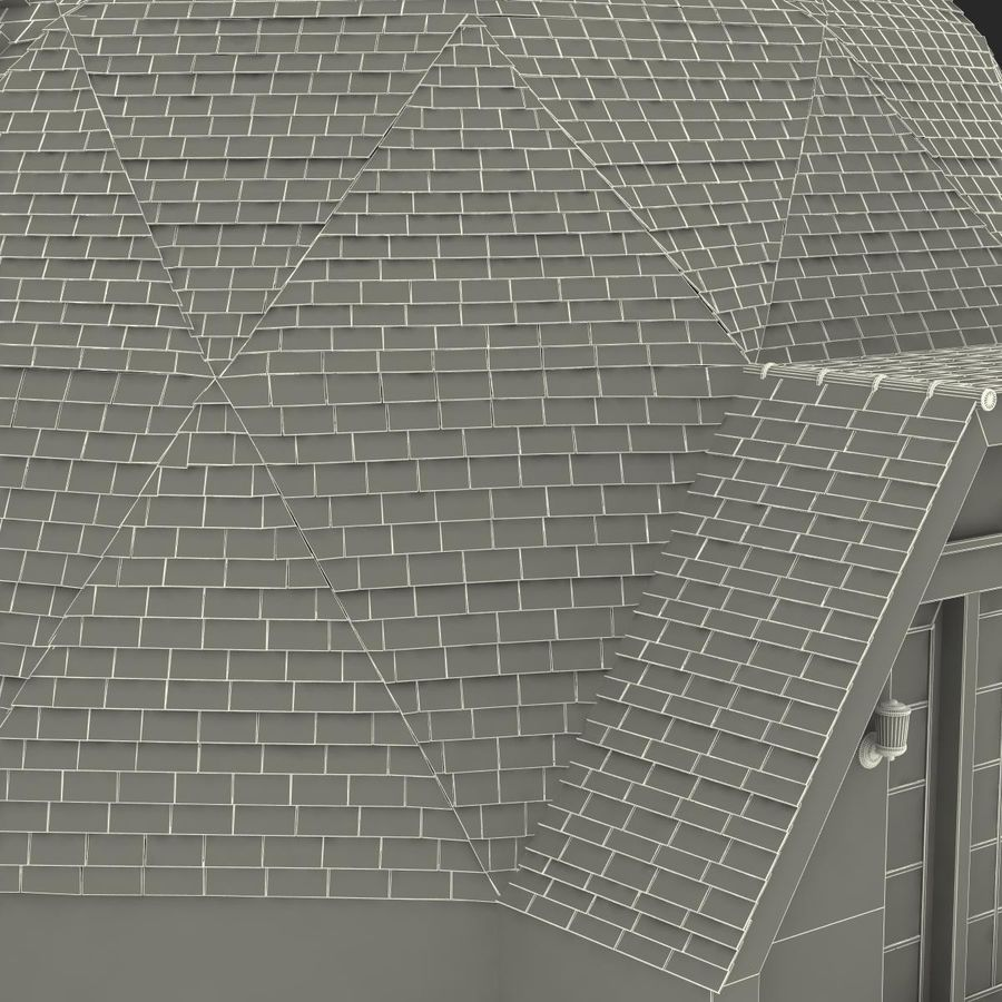 Geodesic Dome House royalty-free 3d model - Preview no. 23