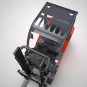 Gaffeltruck 3d model