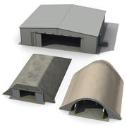Hangar and Bunker Collection 3d model