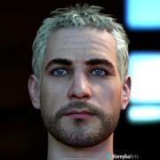 수컷 머리 AlexV2, 12 스킨 7 눈 색깔 실시간 3d model