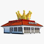 Burger King Restaurant House 3d model