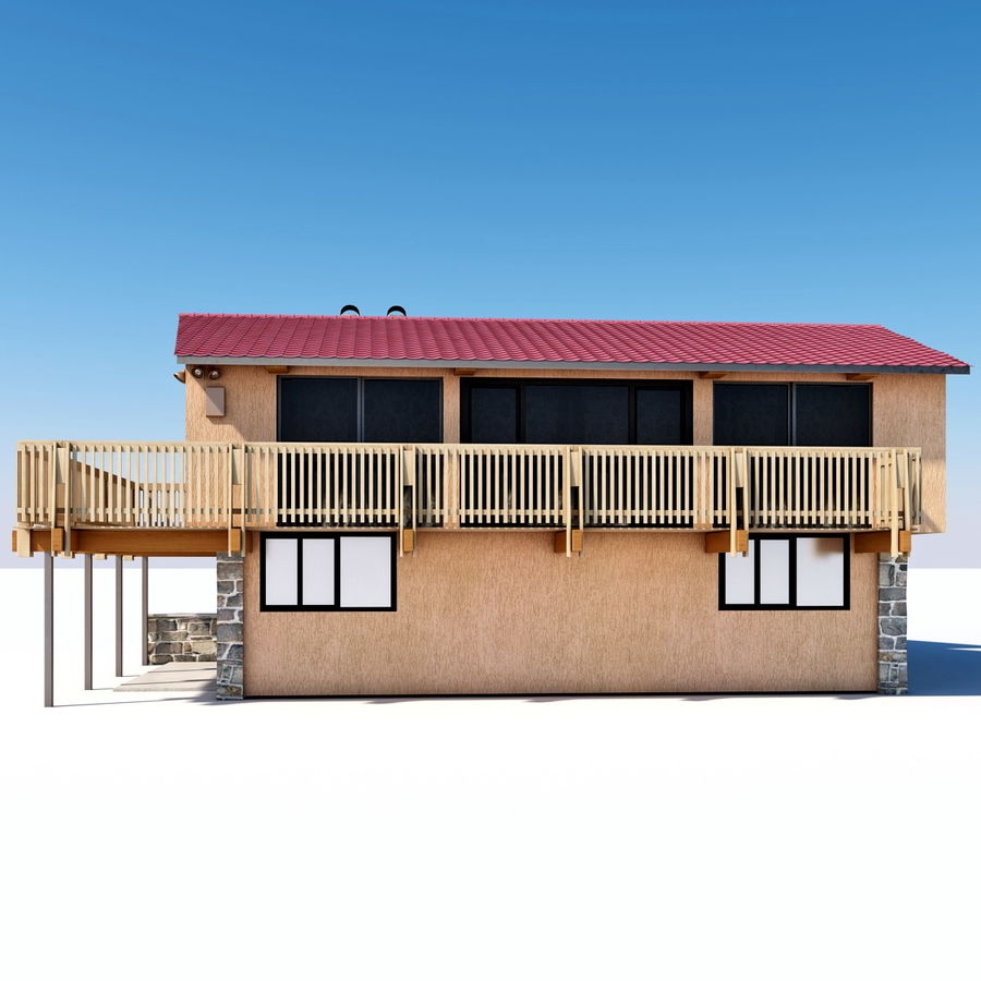 Deck House royalty-free 3d model - Preview no. 7