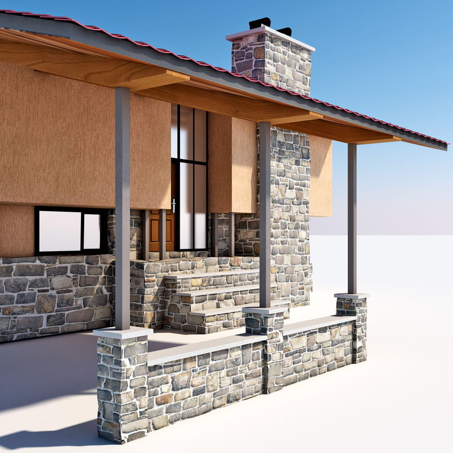 Deck House royalty-free 3d model - Preview no. 21
