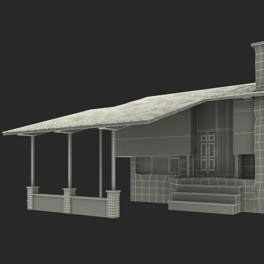 Deck House royalty-free 3d model - Preview no. 36