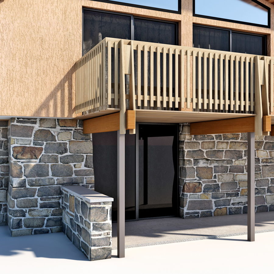 Deck House royalty-free 3d model - Preview no. 16