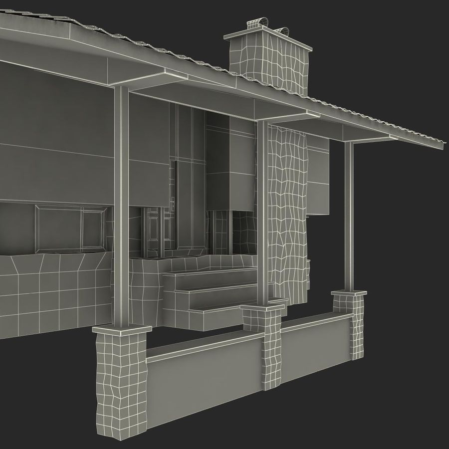 Deck House royalty-free 3d model - Preview no. 43