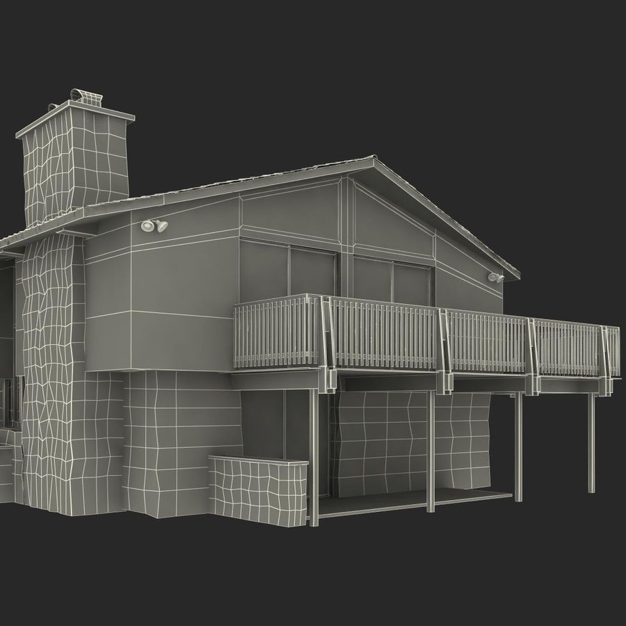 Deck House royalty-free 3d model - Preview no. 34