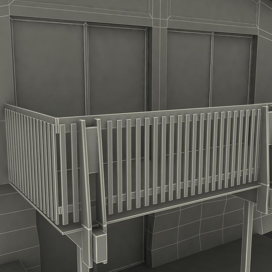 Deck House royalty-free 3d model - Preview no. 40