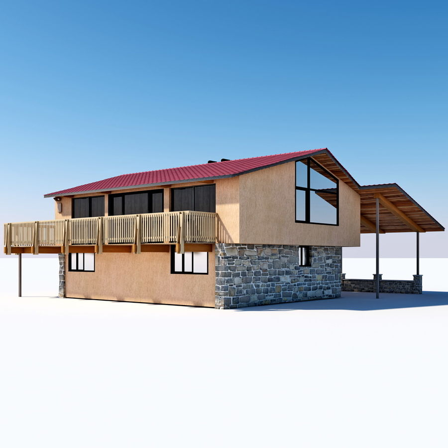 Deck House royalty-free 3d model - Preview no. 6