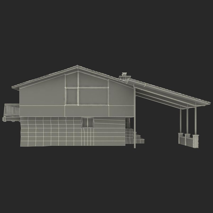 Deck House royalty-free 3d model - Preview no. 27