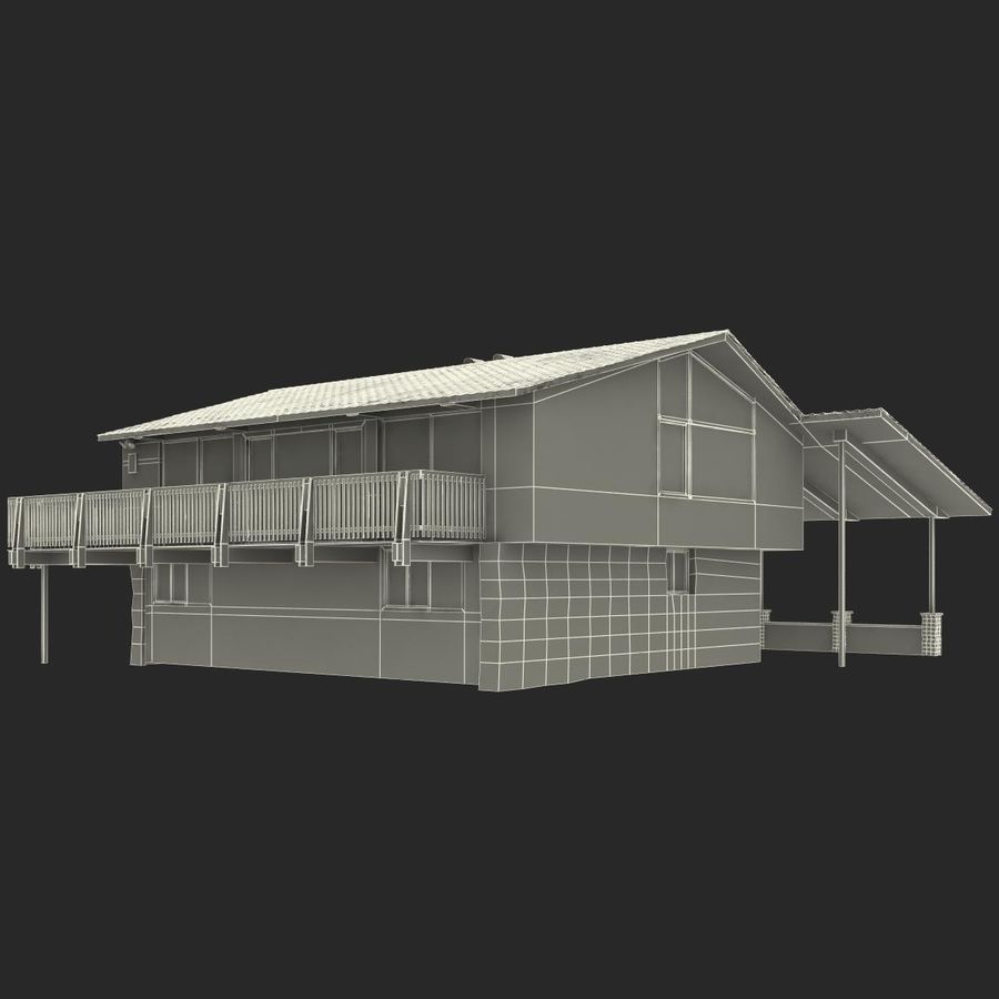 Deck House royalty-free 3d model - Preview no. 28