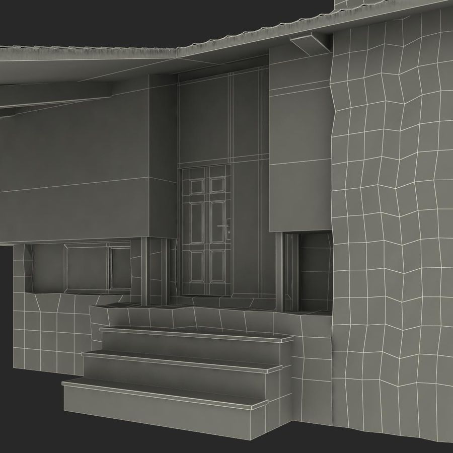 Deck House royalty-free 3d model - Preview no. 37