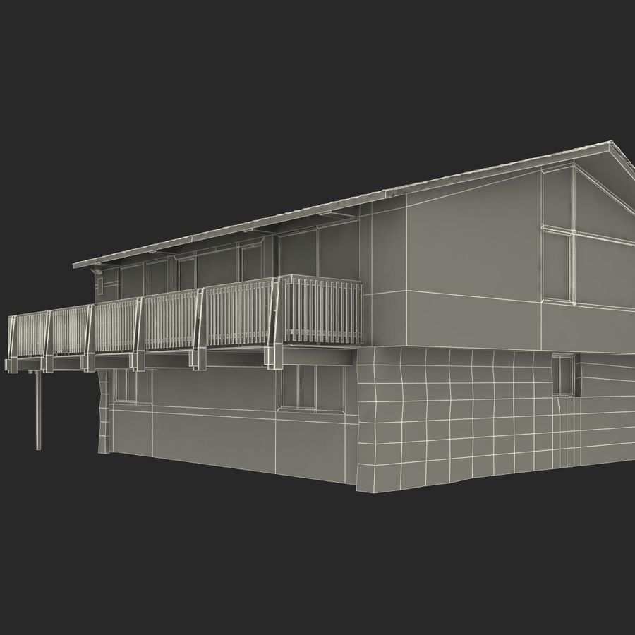 Deck House royalty-free 3d model - Preview no. 35