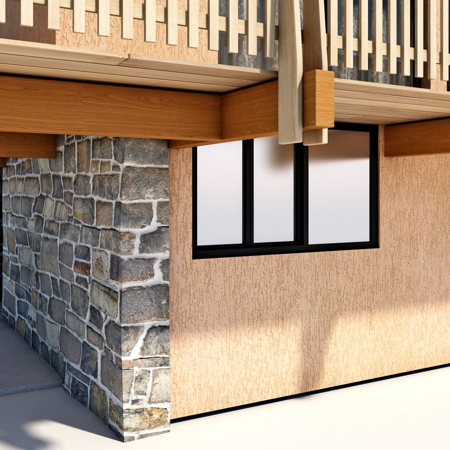 Deck House royalty-free 3d model - Preview no. 19