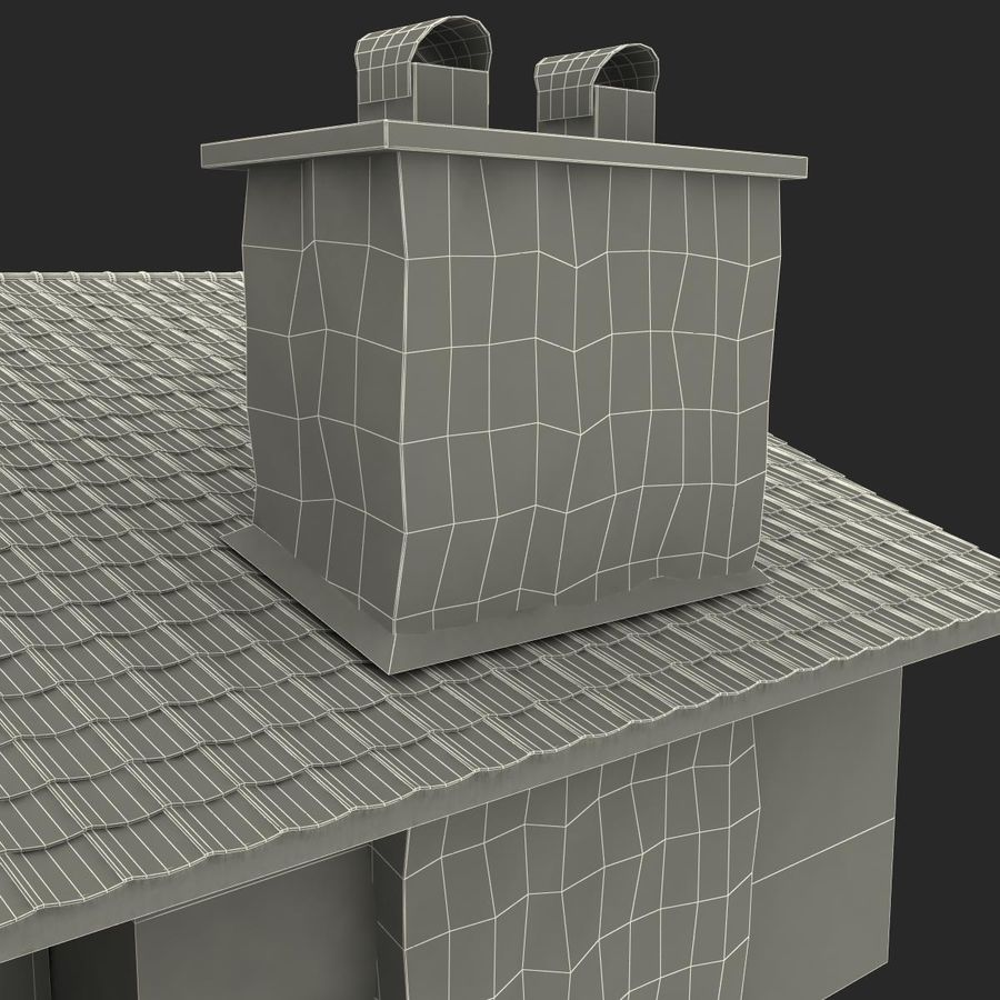 Deck House royalty-free 3d model - Preview no. 44