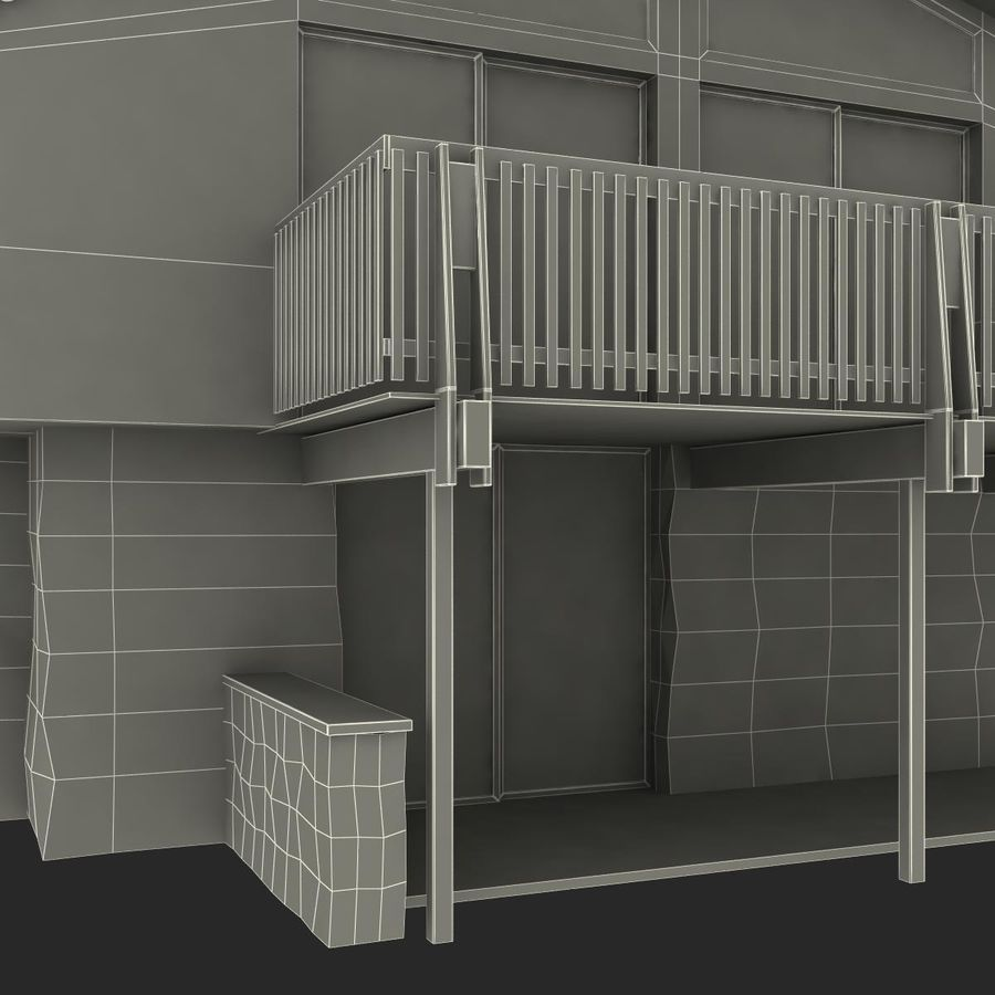 Deck House royalty-free 3d model - Preview no. 38