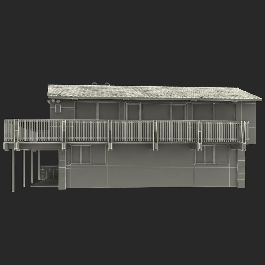 Deck House royalty-free 3d model - Preview no. 29