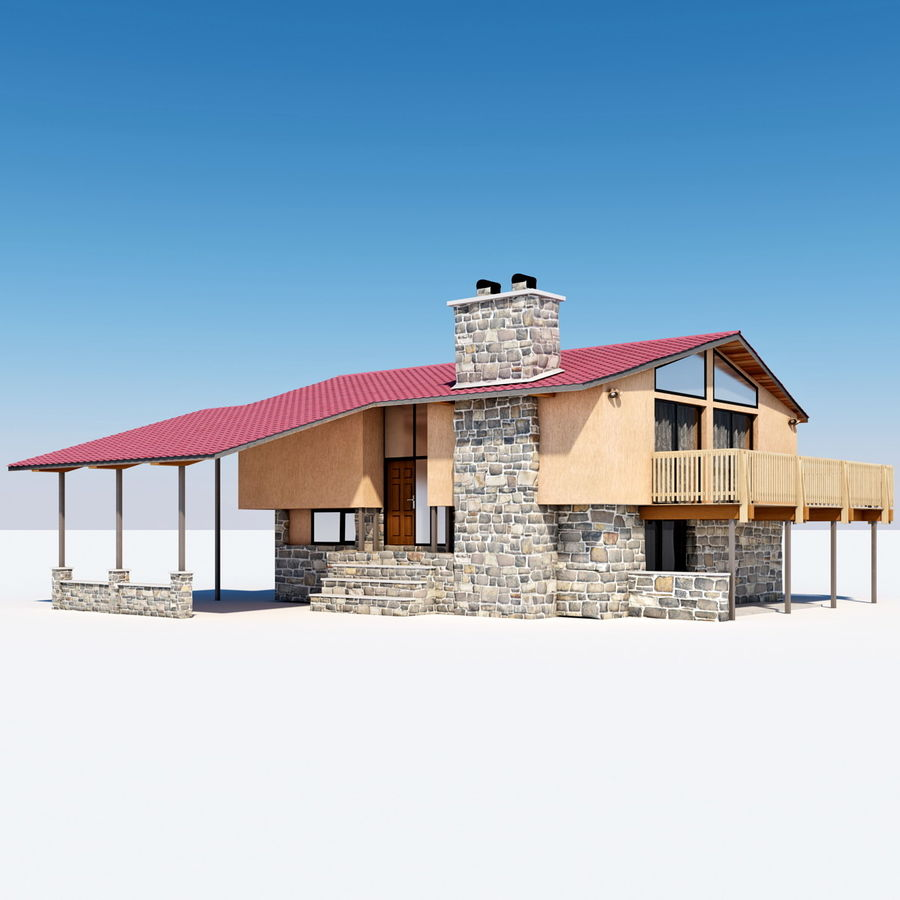 Deck House royalty-free 3d model - Preview no. 10