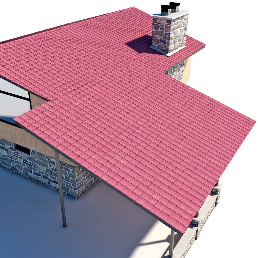 Deck House royalty-free 3d model - Preview no. 24
