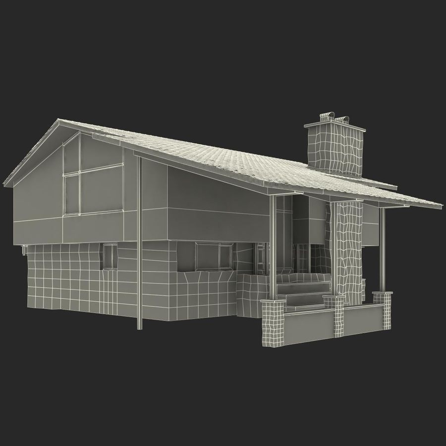 Deck House royalty-free 3d model - Preview no. 26