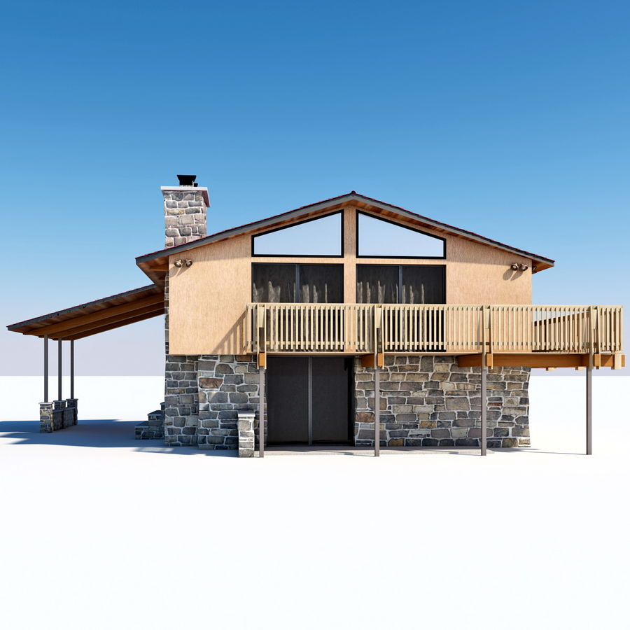 Deck House royalty-free 3d model - Preview no. 9