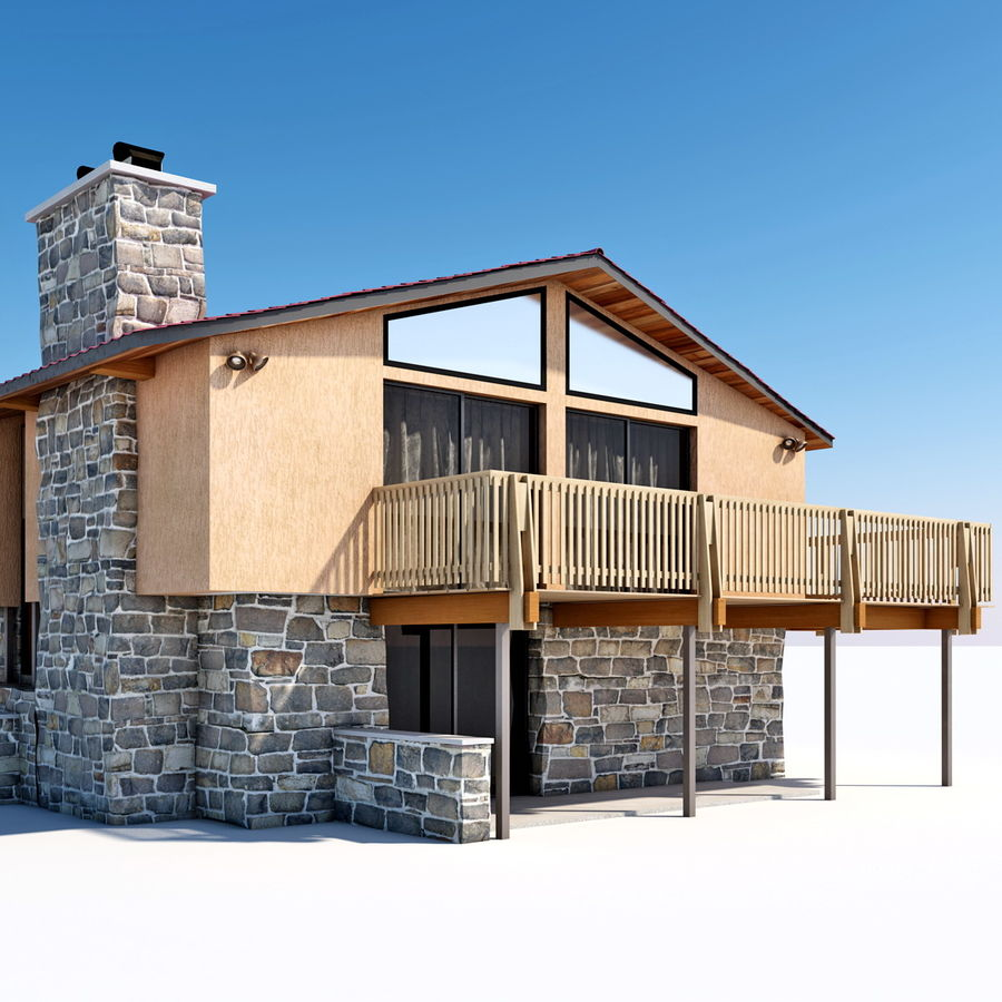 Deck House royalty-free 3d model - Preview no. 12