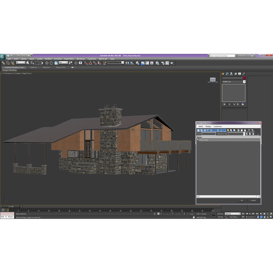 Deck House royalty-free 3d model - Preview no. 4