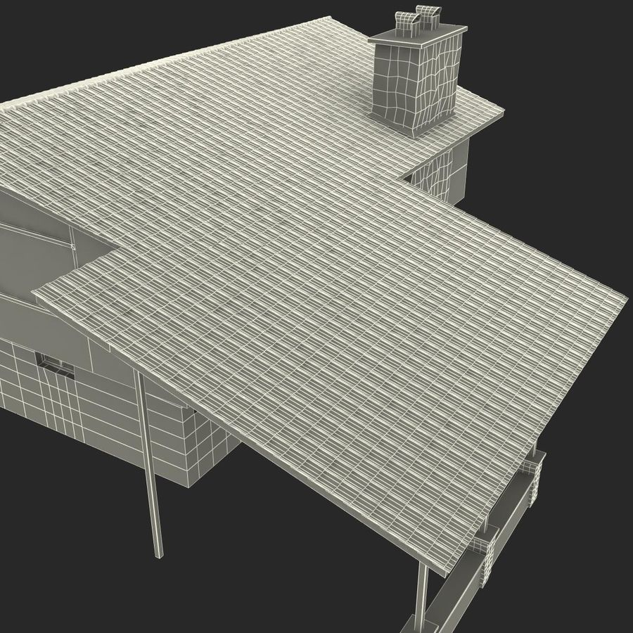 Deck House royalty-free 3d model - Preview no. 45