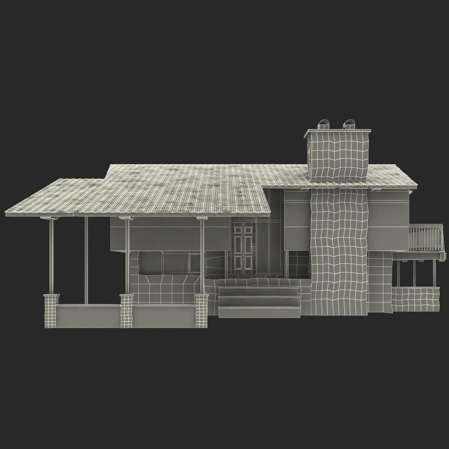 Deck House royalty-free 3d model - Preview no. 25