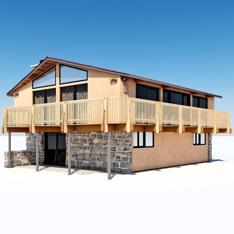 Deck House royalty-free 3d model - Preview no. 8