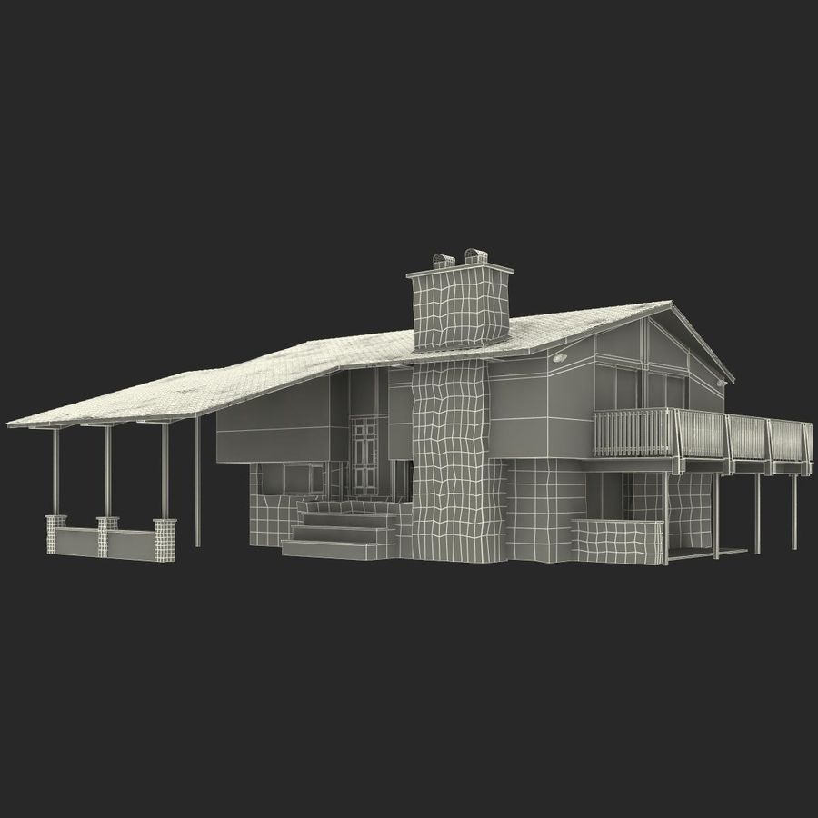 Deck House royalty-free 3d model - Preview no. 32