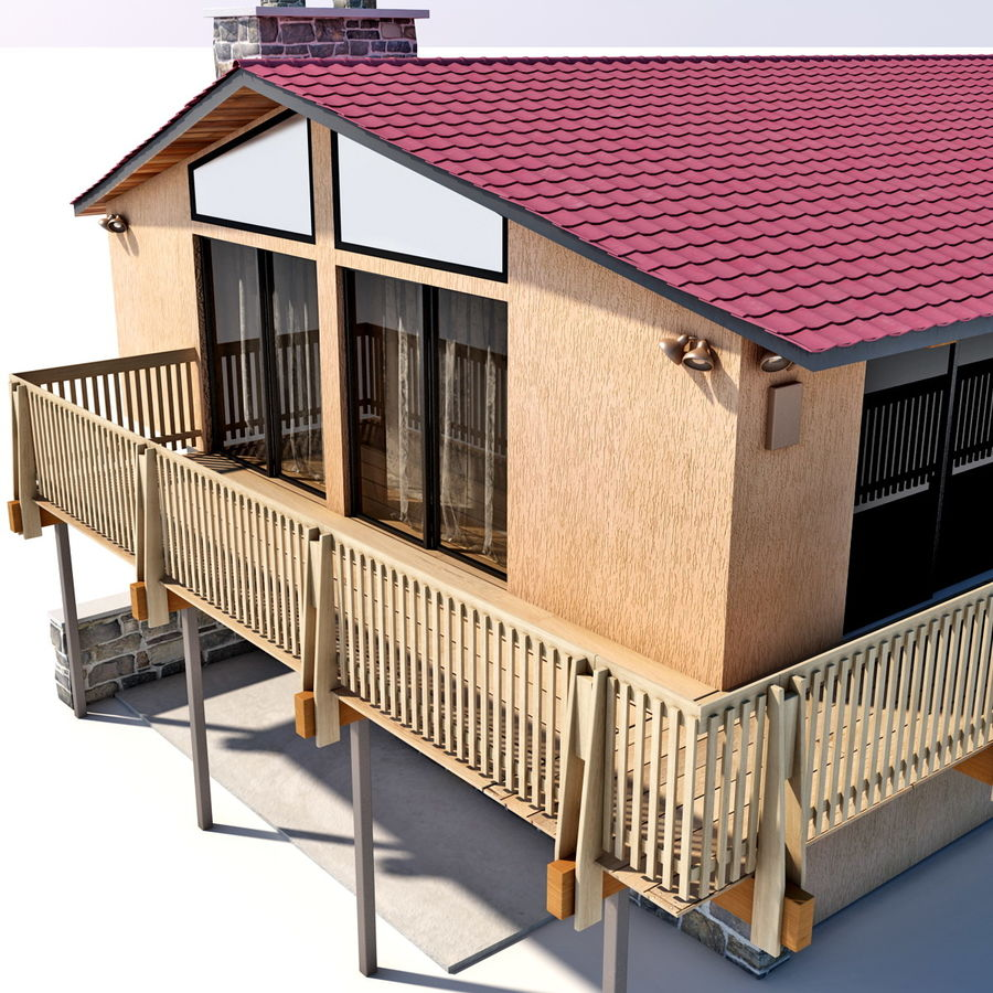 Deck House royalty-free 3d model - Preview no. 17