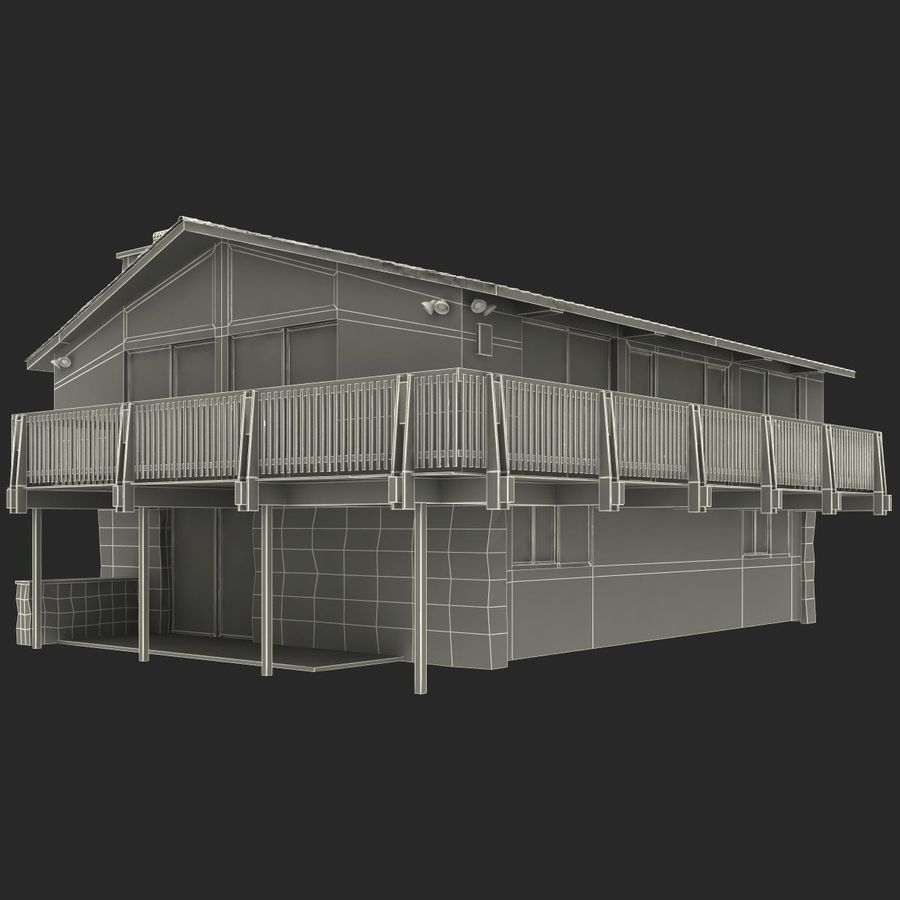 Deck House royalty-free 3d model - Preview no. 30