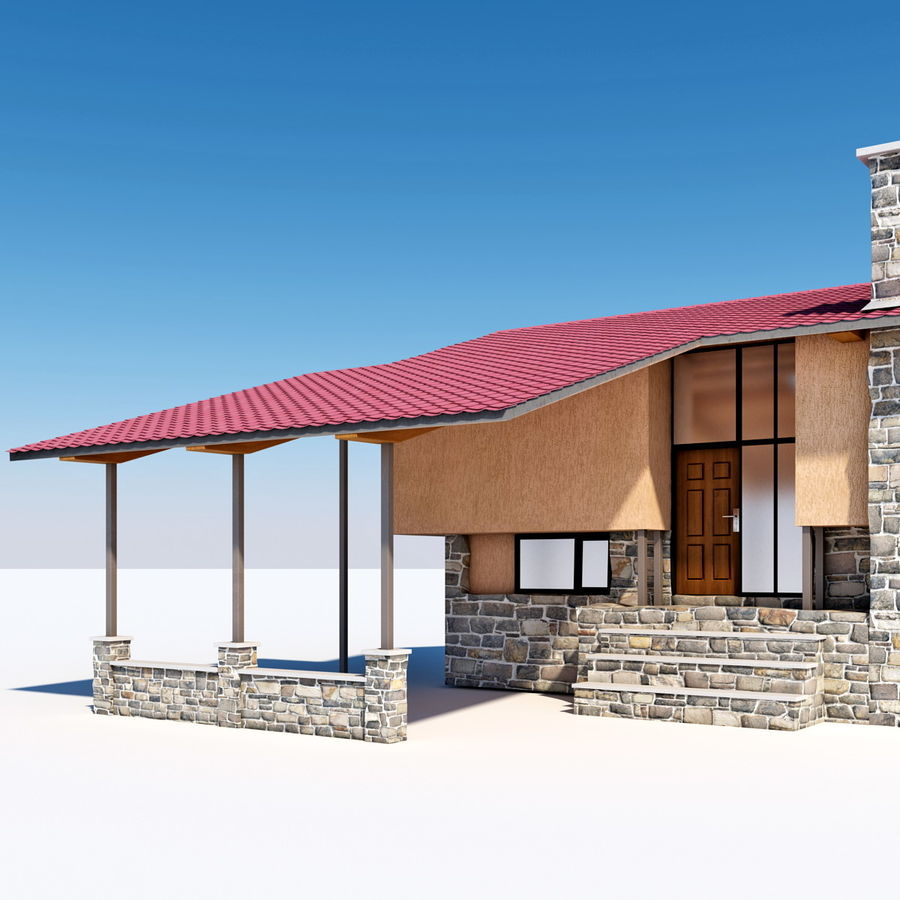 Deck House royalty-free 3d model - Preview no. 14
