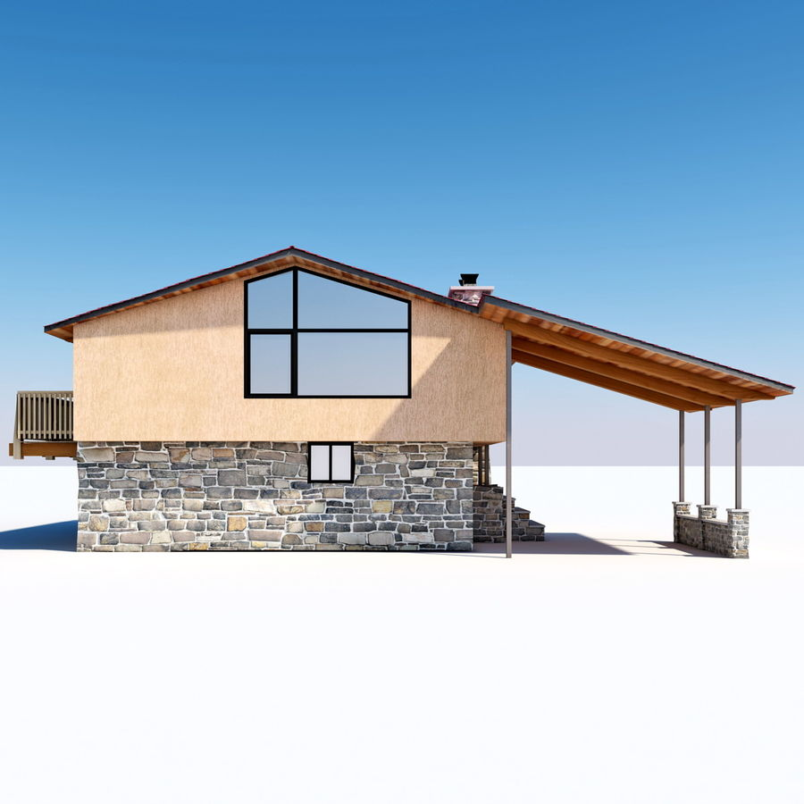 Deck House royalty-free 3d model - Preview no. 5