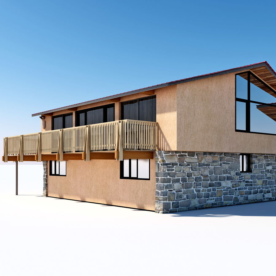 Deck House royalty-free 3d model - Preview no. 13