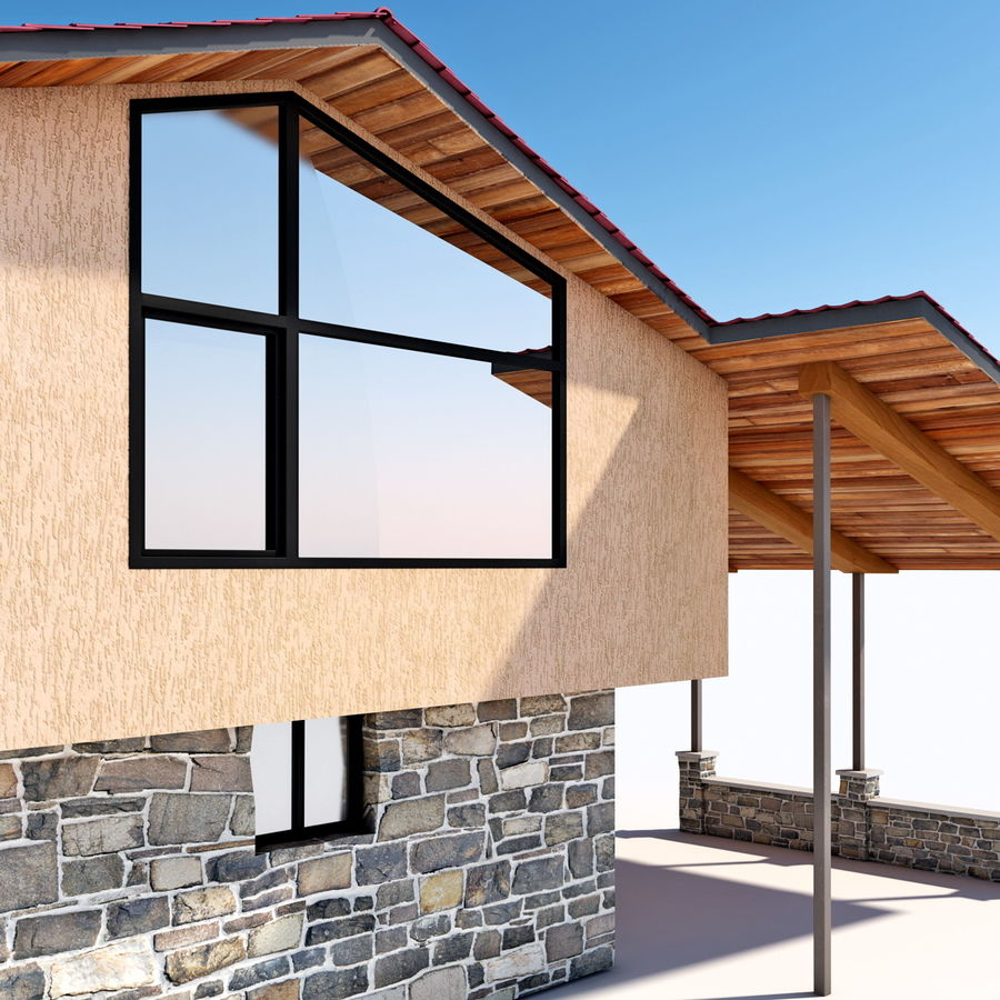 Deck House royalty-free 3d model - Preview no. 20