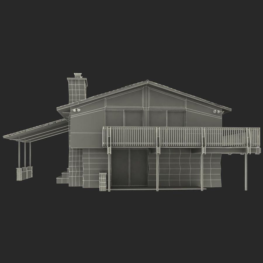 Deck House royalty-free 3d model - Preview no. 31