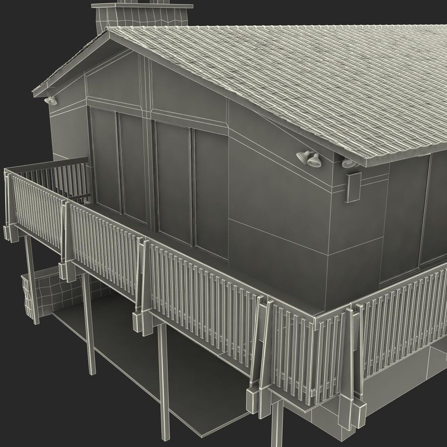 Deck House royalty-free 3d model - Preview no. 39