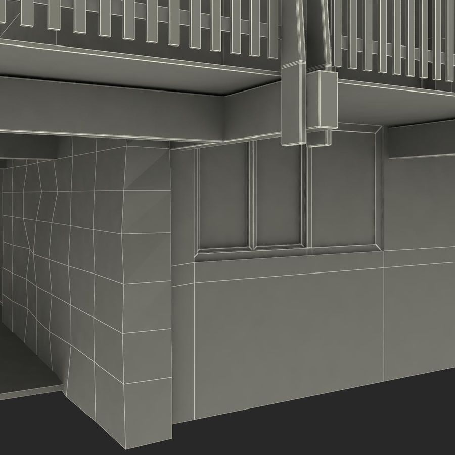 Deck House royalty-free 3d model - Preview no. 41