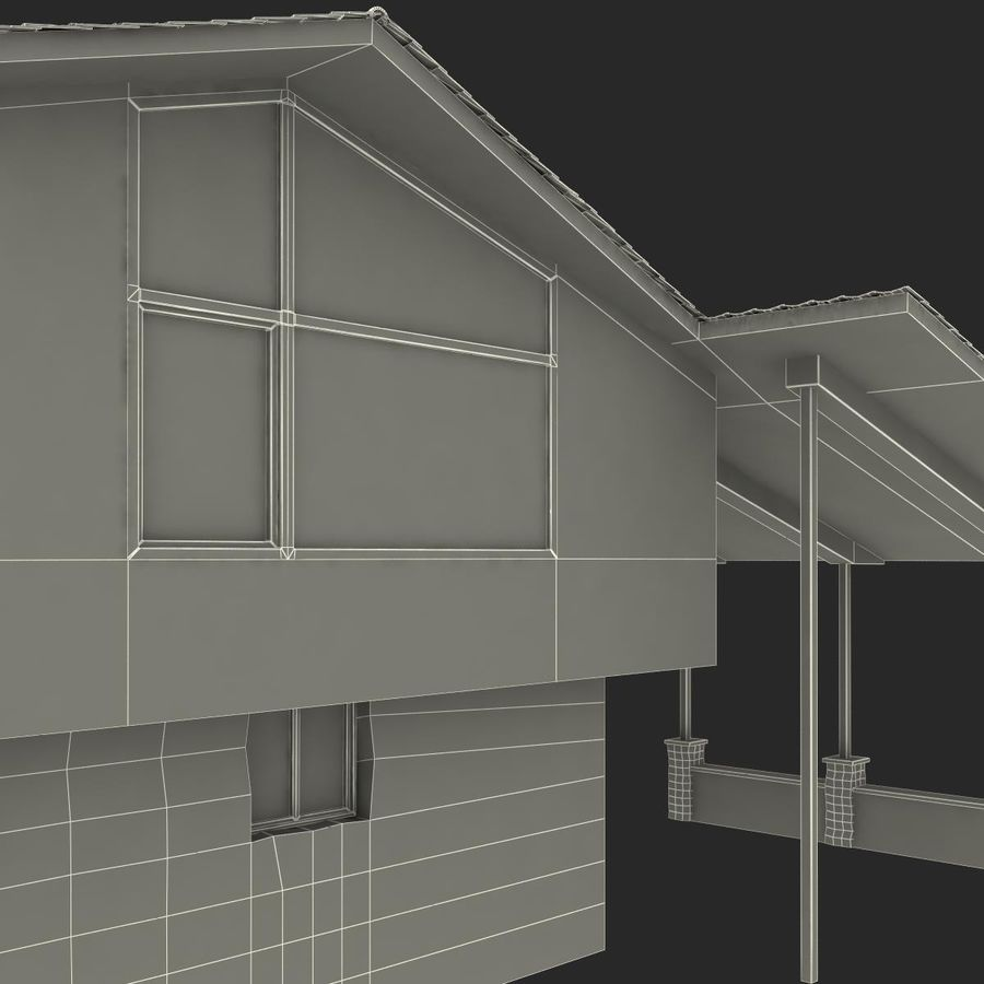 Deck House royalty-free 3d model - Preview no. 42