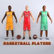 Pakiet graczy w koszykówkę 3d model