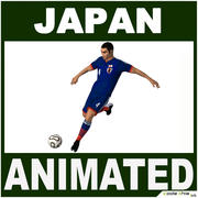 Piłkarz Japonia CG 3d model